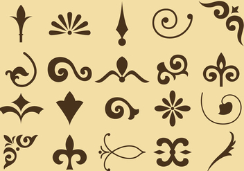 Flourish Vector Icons - vector #353159 gratis