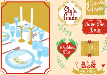 Free Wedding Card Vector Elements - Free vector #353179