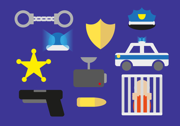 Police Illustration Elements - vector gratuit #353219