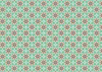 Green Mosaic Pattern Background - vector gratuit #353229