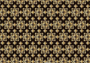 Gold Talavera Seamless Pattern - бесплатный vector #353259