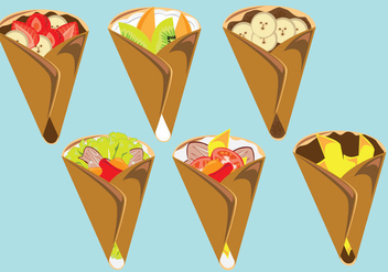 Delicious Crepes Vector - vector gratuit #353279
