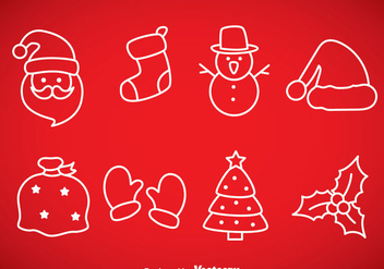 Christmas Outline Icons - vector gratuit #353289