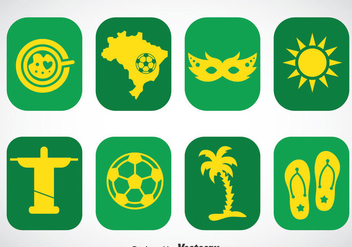 Brazil Icons Vector Sets - Free vector #353299