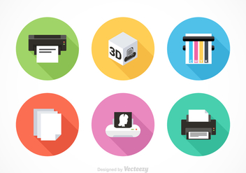 Free Printer Equipment Vector Icons - Free vector #353309