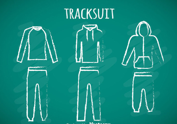 Tracksuit Chalk Draw Icons - vector gratuit #353369