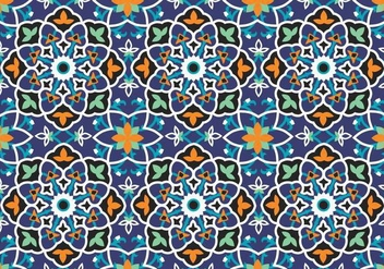 Mosaic Decoration Pattern Background - vector gratuit #353389