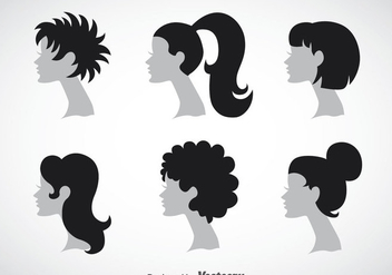 Woman Hairstyles Collection Sets - бесплатный vector #353419