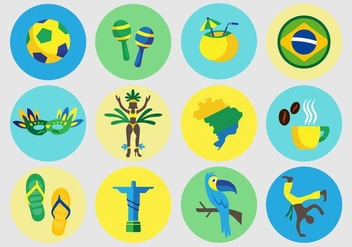 Brazilian Vector Icons - бесплатный vector #353509