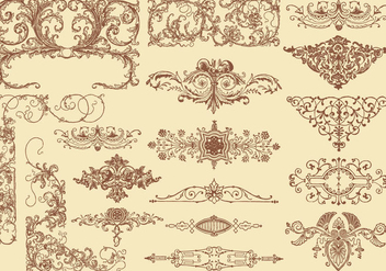 Flourish Design Element Vectors - vector #353549 gratis