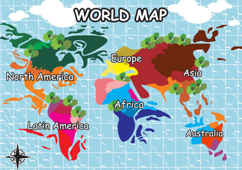World Map Illustration Vector - Kostenloses vector #353599