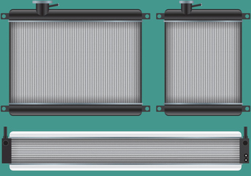 Car Radiator Vectors - Free vector #353639