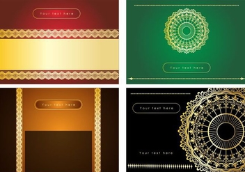 Invitation Lace Trim Vectors - Free vector #353689