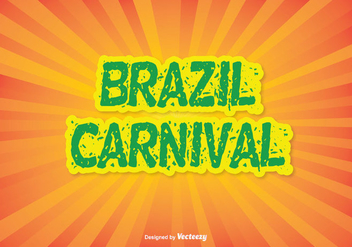 Colorful Brazil Carnival Vector Illustration - Kostenloses vector #353749