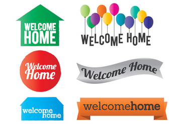 Welcome Home Vector - vector #353779 gratis