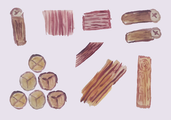 Free Wooden Logs Vector Pack - Kostenloses vector #353789