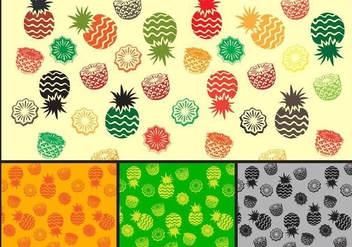 Pineapple Pattern - vector gratuit #353809