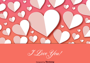 I Love You Postcard Background Vector - vector gratuit #353819