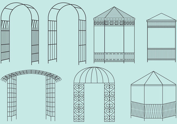 Metal Structure Gazebos - vector gratuit #353859