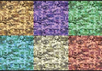Colorful Multicam Pattern Vectors - vector gratuit #353869
