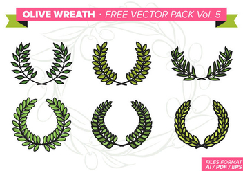 Olive Wreath Free Vector Pack Vol. 5 - Free vector #353969