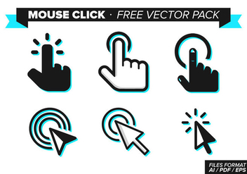 Mouse Click Free Vector Pack - бесплатный vector #353999