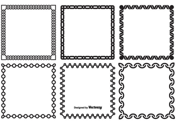 Decorative Vector Frame Set - vector #354129 gratis