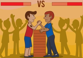 Arm Wrestling Vector - Free vector #354159