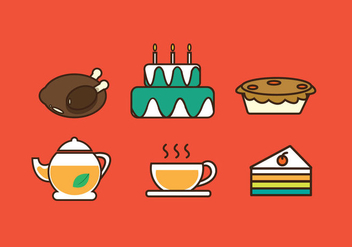 Free Food Party Icon Illustration Vector - vector #354169 gratis