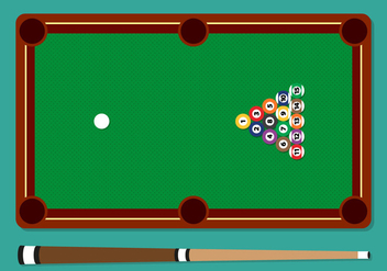 Pool Stick Balls Table Vector Illustration - Kostenloses vector #354249