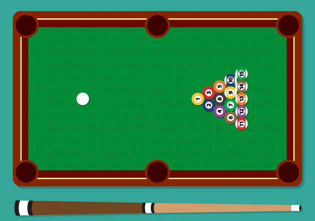 Pool Stick Balls Table Vector Illustration - Free vector #354249