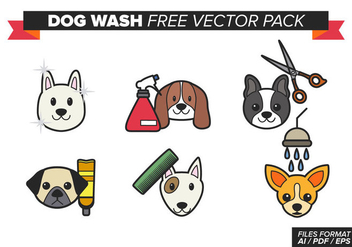 Dog Wash Free Vector Pack - vector #354299 gratis