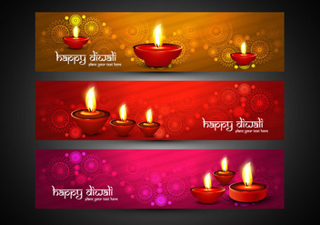 Colorful Diwali Headers - бесплатный vector #354379