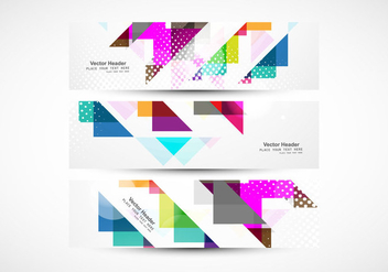 Colorful Triangular Header - vector gratuit #354409