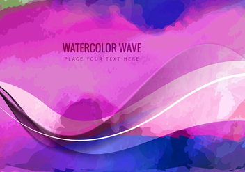 Abstract Watercolor Background - vector gratuit #354449