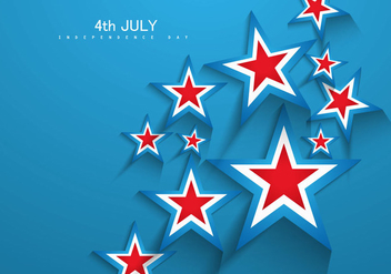 4th Of July Independence Day Card With Stars - vector #354459 gratis