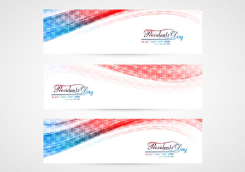 Set Of Presidents Day Banners - бесплатный vector #354519