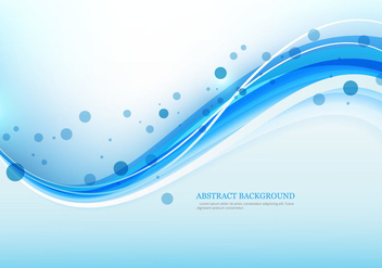 Blue Colored Wave On Abstract Background - vector gratuit #354579