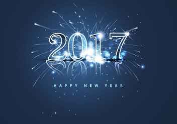 Happy New Year 2017 With Fire Cracker - vector gratuit #354609
