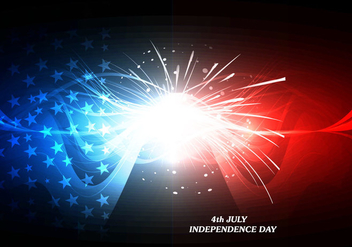 4th July Independence Day Card With Firework - vector #354649 gratis