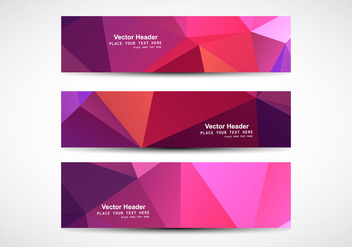 Abstract Polygonal Banner - бесплатный vector #354659
