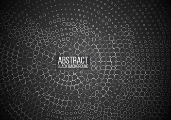 Circled Pattern With Black Background - Kostenloses vector #354679