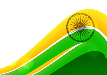 Tricolor Of Indian Flag On White Background - Kostenloses vector #354699