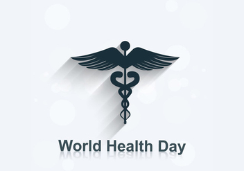 World Health Day With Medical Symbol - Free vector #354729