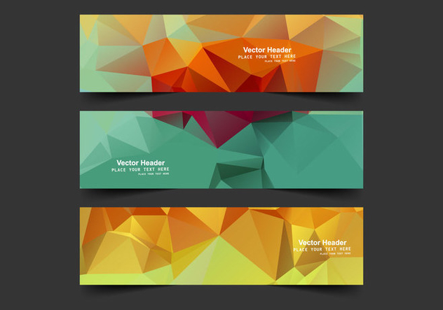 Header With Colorful Polygons - Kostenloses vector #354769