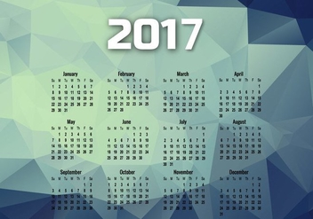 Year 2017 Calendar With Months - Kostenloses vector #354789