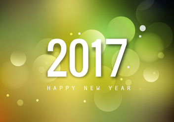 2017 Happy New Year Greeting Card - vector gratuit #354799