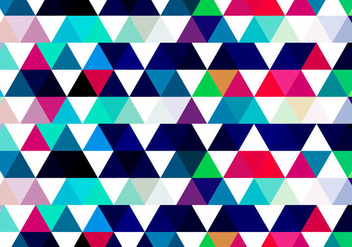 Colorful Triangular Background - vector gratuit #354849