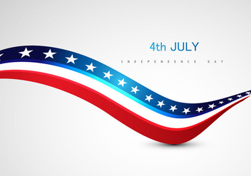 4th July Independence Day Text On Grey Background - vector #354859 gratis