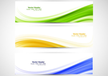 Brazilian Flag Headers - Free vector #354919